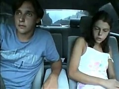legal age teenager sucks his strapon in the car