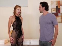Arya Fae In Bodystocking Rubdown 2