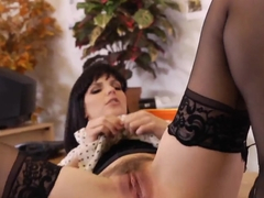 Hardcore fuck with a passionate brunette lady Bobbi Starr and John Strong