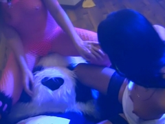 Henessy & Ava & Genesis & Grace & Lerok & Margot & Mancy & Viola in group sex video showing the co.
