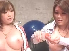 Amazing Japanese slut Towa Mitsui, Rio Hamasaki in Crazy Big Tits, Cumshot JAV scene