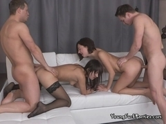 Itchy Sluts Get Their Pussy Drilled In A Foursome