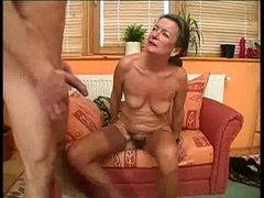 Nasty old lady enjoys getting fucked in her mature cunt