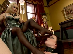 Hottest lesbian, fetish adult clip with exotic pornstars Aiden Starr and Veruca James from Footwor.