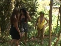 Awesome threesome in the woods