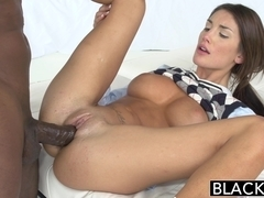 BLACKED Real Model August Ames with Perfect Tits Loves Black Cock