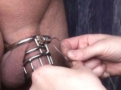 Sealing the chastity device for chastity challenge :)