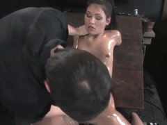 Jade Indica Oiled fucked bound and tortured Countdown to Relaunch 5 of 20