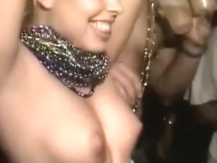 Wild girls flashing their boobs in public