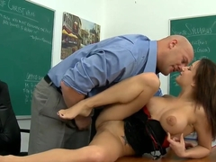 Booty Charity Bangs fucking with her teacher