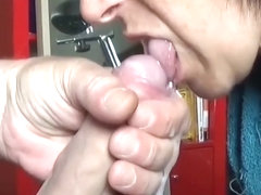 Huge load of cum in slow mot...