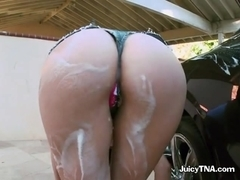 Mandy Decides toWash Her Car and Gets a Bit Naughty