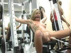 Lesbian Femdom Workout at the Gym