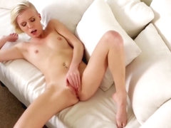 Petite blonde getting pounded