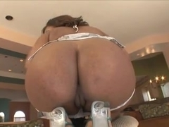 Huge black ass anal destroyed by white cock