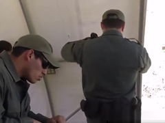 Teen Gets Mouth Filled By Border Guard Schlong