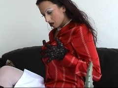 Trinity-Productions: Silk Blouse Office Feel Up