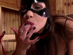 Best pornstar Latex Lucy in incredible lingerie, masturbation adult scene