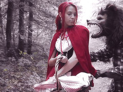 Brind Love & Dick Pickaxe in Halloween - Lil Red Riding Slut - PegasProductions