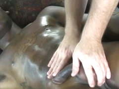 Straight guy being felt up by masseur