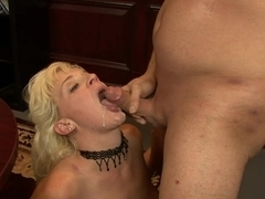 Heidi Mayne is nailed in her cunt and facialized