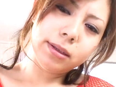 Hottie Aya Fujii sucks big cock with mouthful of cum