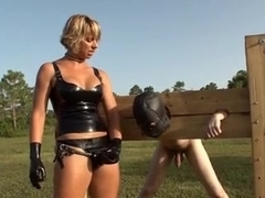 Female domination porn with a sissy guy