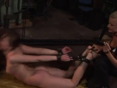 Hot girl with sexy shaped body Rebecca Contreras got her hands and legs tied up by BDSM fuck fun c.