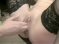 Extraordinary anal fisting wife