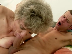 Kinky mature woman has a young man taking care of her sexual problems