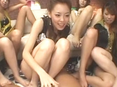 Amazing Japanese whore Amin Kawai, Akane Hotaru, Mimi in Exotic Handjob, Group Sex JAV clip