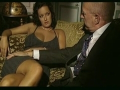 Vintage porn video with threesome sex