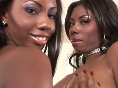 Exotic pornstars Candace Von and Mahlia Milian in amazing interracial, big tits sex movie