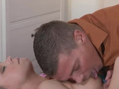 Teen got fucked deep and creampied