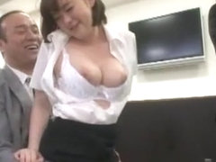 Incredible Japanese model Saki Asahina, Minako Uchida, Kyouko Maki in Hottest Secretary, Blowjob J.