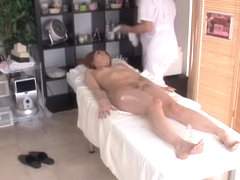 Horny massage spy video with real japanese fuck session