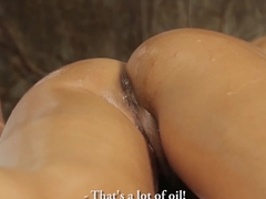 Horny Esperanza likes jizz blasting on her face and mouth