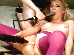 Ashley Fires & Lorelei Lee in Sexy, Blonde Ashley Fires Subs For Electrosluts - Electrosluts