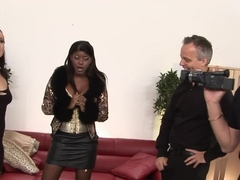 Hottest pornstars Jasmine Webb and Lucy Love in horny interracial, black and ebony sex video