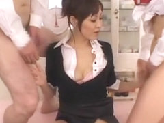 Fabulous Japanese chick Natsumi Horiguchi in Incredible Facial, Threesomes JAV clip