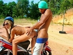 Thailand porn adventures: Day 6 - Amateur vacation fuck on a motorbike