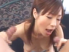 Exotic Japanese slut Hime Ayase in Incredible Gangbang, Cunnilingus JAV clip