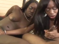 Horny pornstars Flash Brown, Taquila and Cocoa Shanelle in exotic straight, threesome porn scene