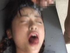 Asuka Sawaguchi Asian actress gets semen shower