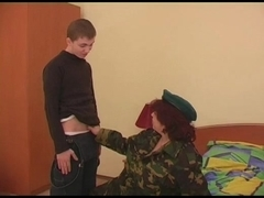 BBW mature Russian gets nailed by a young guy