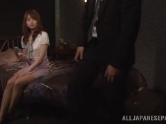Hot Asian milf Akiho Yoshizawa enjoys sucking cock