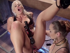 Holly Heart: Horny Bonde Bombshell Shocked and Fucked!