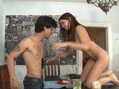 Slutty Ann Marie Rios gets pounded by her friend