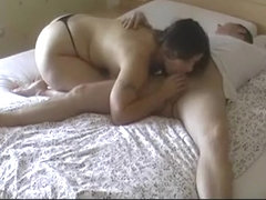Chubby wife hard fuck in bedroom