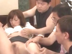 Crazy Japanese whore Kyouko Maki in Amazing Group Sex JAV scene